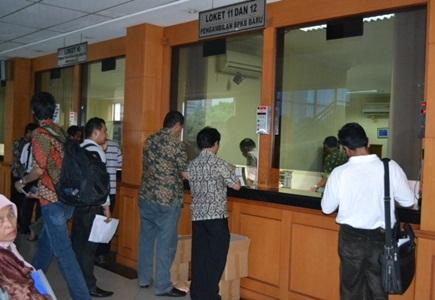 Contoh Loket Pengambilan STNK samsat